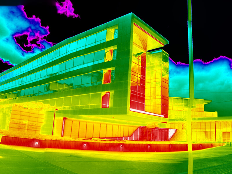 infrared image of the exterior of the Bill & Melinda Gates Foundation