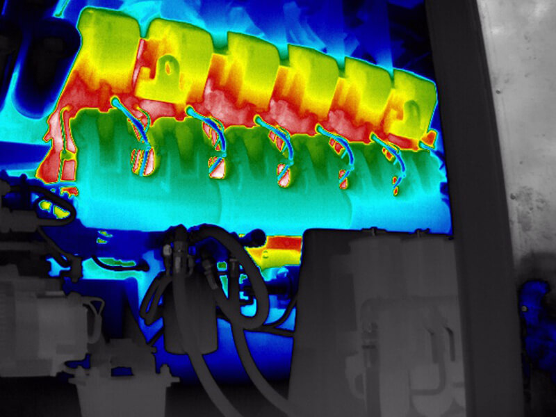 infrared imaging can be used for process monitoring