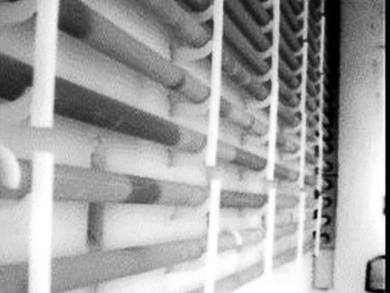 infrared image of process heater tubes